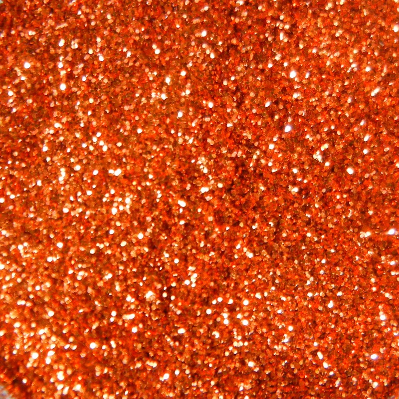 Orange Glitter, Extra-Fine Hex Cut