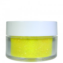 Bright Yellow Glitter, Extra-Fine Hex Cut, .5oz