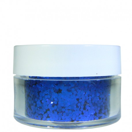 Blue Glitter, Large Hex Cut, .5oz