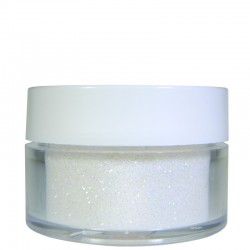 Rainbow White Glitter, Extra-Fine Hex Cut, .5oz