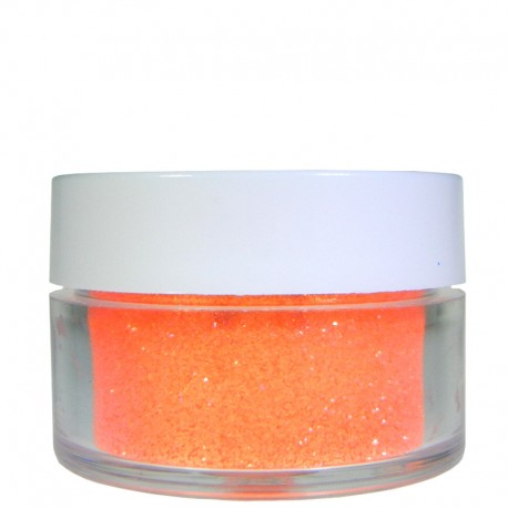 Bright Coral Glitter, Extra-Fine Hex Cut, .5oz
