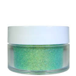 Light Green Glitter, Extra-Fine Hex Cut