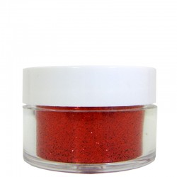 Red Glitter, Extra-Fine Hex Cut, .5oz