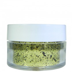Gold Glitter, Large Hex Cut, .5oz