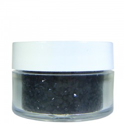 Black Glitter, Large Hex Cut, .5oz