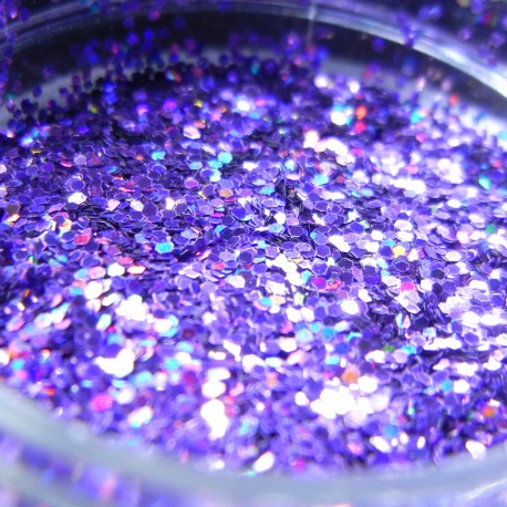 Lavender Prism Glitter, Medium Hex Cut, Open Jar Zoom