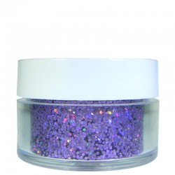 Lavender Prism Glitter, Medium Hex Cut, .5oz