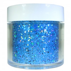 Blue Prism Glitter, Medium Hex Cut, 1oz