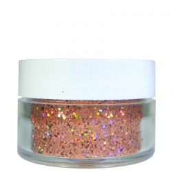 Orange Prism Glitter, Medium Hex Cut