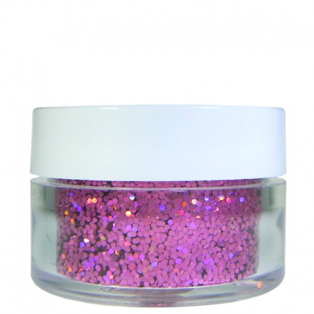 Pink Prism Glitter, Medium Hex Cut, .5oz