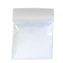 Rainbow White Glitter, Extra-Fine Hex Cut,