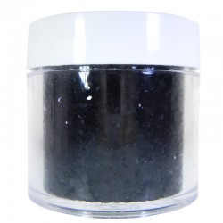 Black Glitter, Large Hex Cut, 1oz
