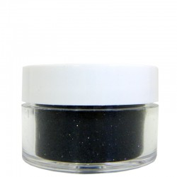 Black Glitter, Extra-Fine Hex Cut, .5oz