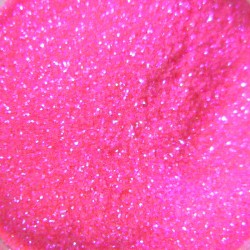 Bright Pink Glitter, Extra-Fine Hex Cut, Open Jar Zoom