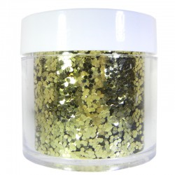 Gold Glitter, Large Hex Cut, 1oz