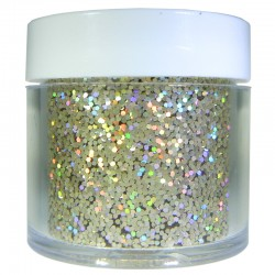 Champagne Gold Prism Glitter, Medium Hex Cut, 1oz