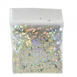 Champagne Gold Prism Glitter, Medium Hex Cut, Sample