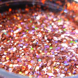 Orange Prism Glitter, Medium Hex Cut, Open Jar Zoom
