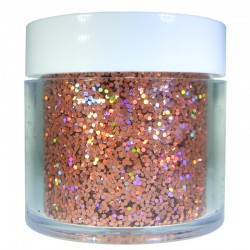 Orange Prism Glitter, Medium Hex Cut, 1oz