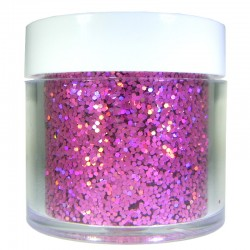 Pink Prism Glitter, Medium Hex Cut, 1oz