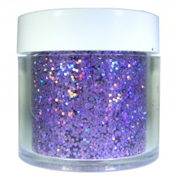 Lavender Prism Glitter, Medium Hex Cut, 1oz