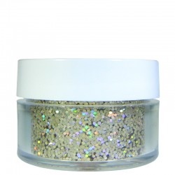Champagne Gold Prism Glitter, Medium Hex Cut