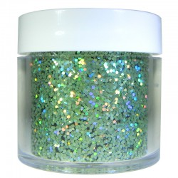 Green Prism Glitter, Medium Hex Cut, 1oz