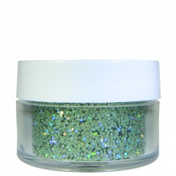 Green Prism Glitter, Medium Hex Cut, .5oz